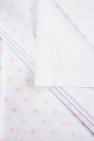Fabric - Cotton - White With Pink Dots - 165 cm - 115 g/m2 thumbnail