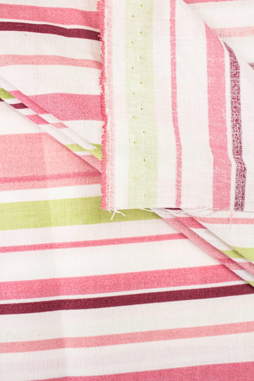 Tkanina pościelowa bawełniana - kolorowe paski -  160cm 140g/m2