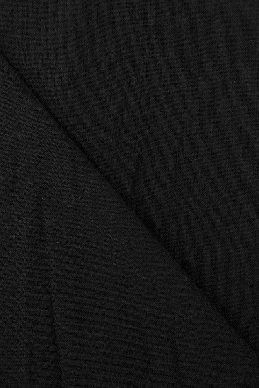 Tkanina lniana gładzona - czarna -  155cm 180g/m2