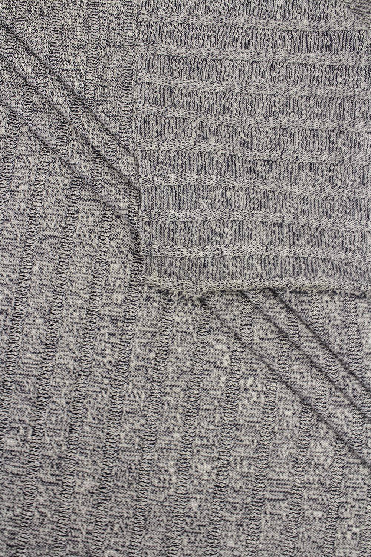 Dzianina sweterkowa wiskozowa - granatowy- 150cm 190g/m2