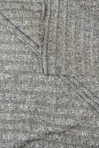Dzianina sweterkowa wiskozowa - czarny- 150cm 190g/m2 thumbnail