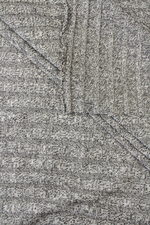 Dzianina sweterkowa wiskozowa - czarny- 150cm 190g/m2