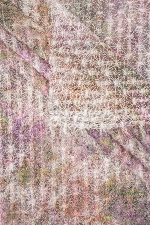Knit - Boiled Wool - Pink & Cream - 150 cm - 90 g/m2