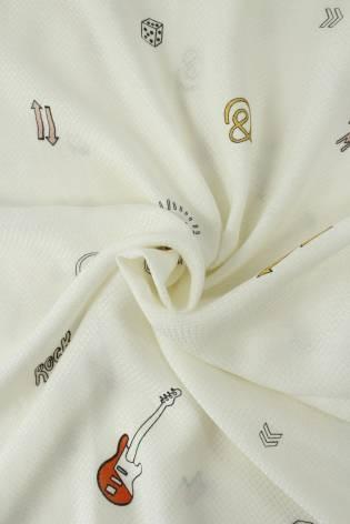 Fabric - Viscose - Cream...