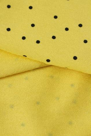 Knit - Viscose Jersey - Yellow With Black Dots - 2 rm (Pre-cut) thumbnail