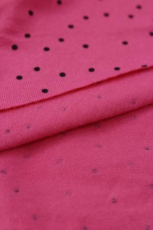 Jersey wiskozowy różowy czarne kropki KUPON 2 MB thumbnail