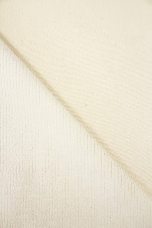 Tkanina sztruks - smietankowy - 150cm 290g/m2