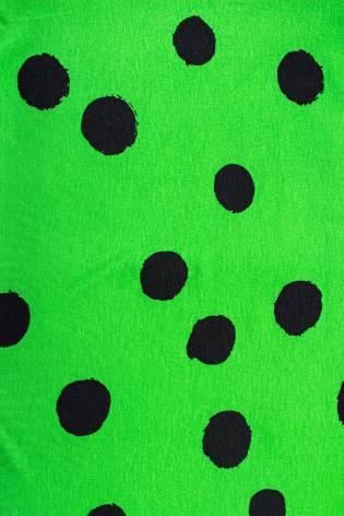 Knit - Viscose Jersey - Green With Big Black Ink Spots - 155 cm - 160 g/m2 thumbnail