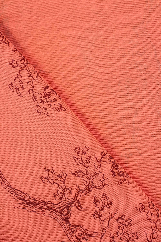 Tkanina wiskozowa - łososiowy w drzewa -  140cm 130g/m2