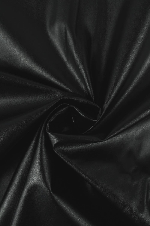Tkanina eko skóra czarna KUPON 2 MB