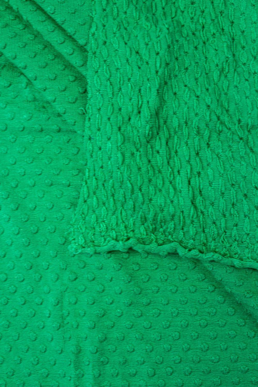 Dzianina jersey wiskozowy - zielony tłoczony  - 165cm 130g/m2