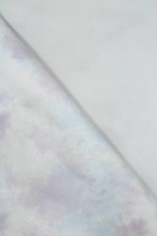 Dresówka pętelka tie dye - błękitno fioletowa - 180cm 260g/m2