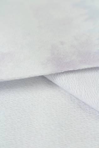Dresówka pętelka tie dye - błękitno fioletowa - 180cm 260g/m2 thumbnail