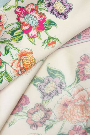 copy of Fabric - Viscose - Salmon Pink With Trees - 140 cm - 130 g/m2 thumbnail