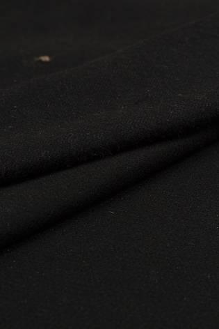 Tkanina flausz - czarny ze srebrną nitką - 150cm 360g/m2 thumbnail