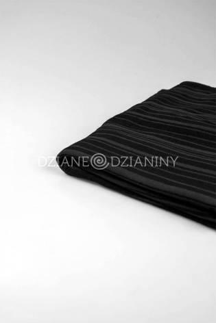 Knit - Viscose Jersey - Black With Transparent Stripes - 150 cm - 180 g/m2 thumbnail