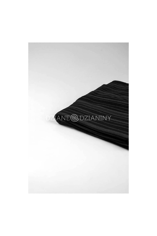 Dzianina wiskozowa transparentna czarna - 150cm 180g/m2