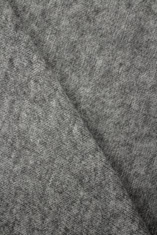 Dzianina sweterkowa szary melanż - 125cm 210g/m2 - 1