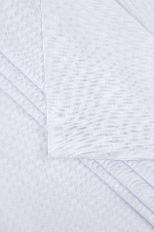 Dzianina jersey - biały  - 180cm 130g/m2