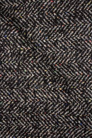 Tkanina wełniana jodełka z kolorową nitką - 155cm 400g/m2 - 1