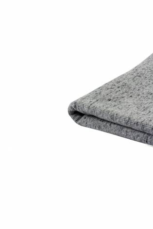 Knit - Welt - Ribbed -  Grey With Graphite Melange - 50 cm/100 cm - 250 g/m2 thumbnail
