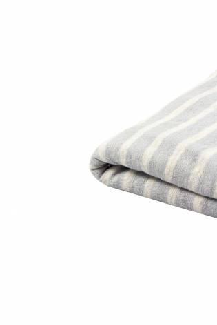 Knit - Sweater Type - Grey & White Stripes - 155 cm - 170 g/m2 thumbnail