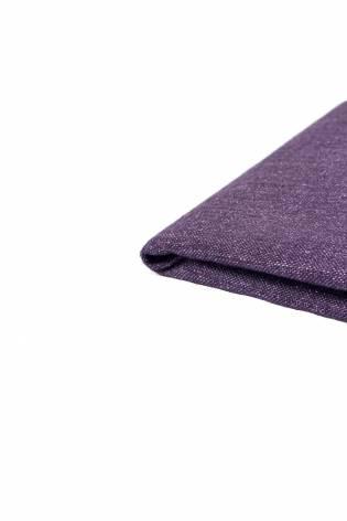 Tkanina lniana sztywna z poklejką papierową fioletowa - 145cm 355g/m2 thumbnail