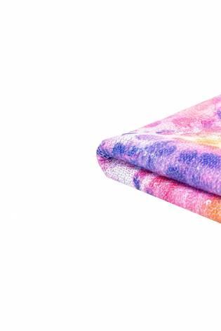 Cekiny na siateczce - kwiecisty wzór fioletowy - 140cm 180g/m2 thumbnail