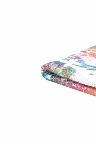 Cekiny na siateczce - kwiecisty wzór biały- 140cm 180g/m2 thumbnail
