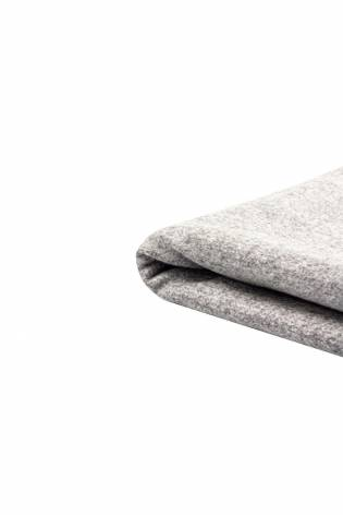 Fabric - Duffle Fleece - Light Grey Melange - 150 cm - 400 g/m2 thumbnail