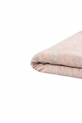 Dzianina sweterkowa ze srebrną nitką - różowy - 150cm 210g/m2 thumbnail