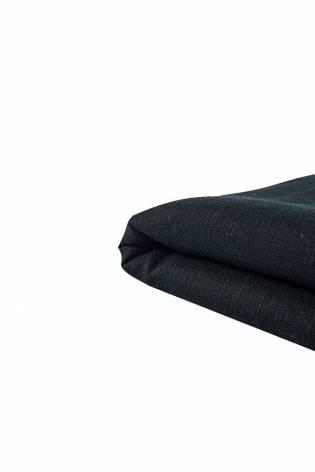 Tkanina lniana - czarna - 140cm 300g/m2 thumbnail
