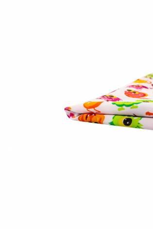 Tkanina Koshibo - potworki na bliałym tle - 150cm 100g/m2 thumbnail