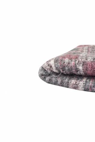 Wełna fantazyjna parzona sweterkowa - różowo-szary - 150cm 90g/m2 thumbnail
