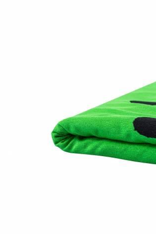 Dzianina jersey wiskozowy - zielony w duże grochy  - 160cm 200g/m2 thumbnail