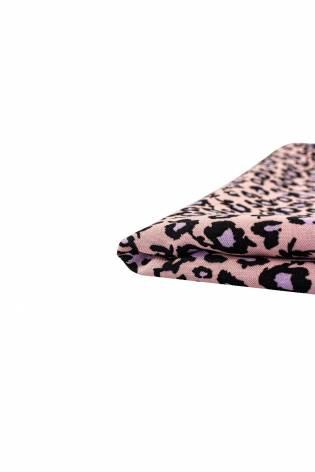 Tkanina wiskozowa - łososiowa panterka -  140cm 130g/m2 thumbnail