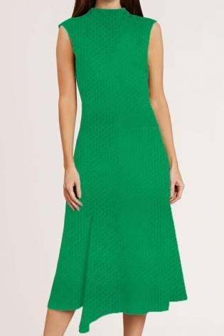Dzianina jersey wiskozowy - zielony tłoczony  - 165cm 130g/m2 thumbnail