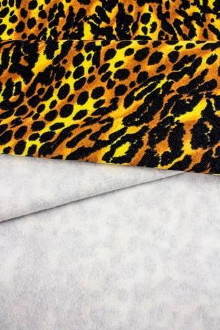 Dzianina dresowa drapana z nadrukiem centki - 175cm 300g/m2 thumbnail
