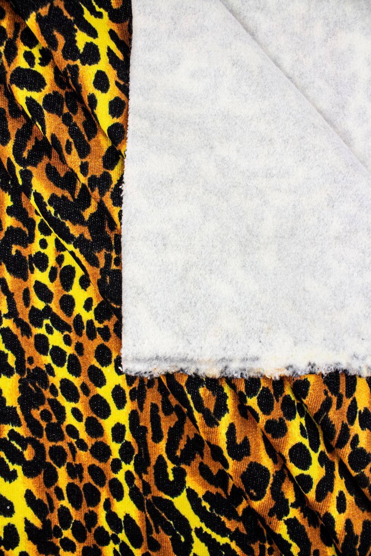 Knit - Sweatshirt Fleece - Cheetah Spots On Yellow - 175 cm - 300 g/m2