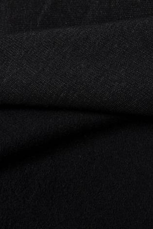 Dzianina dresówka drapana - czarny melanż - 165cm 330g/m2 thumbnail