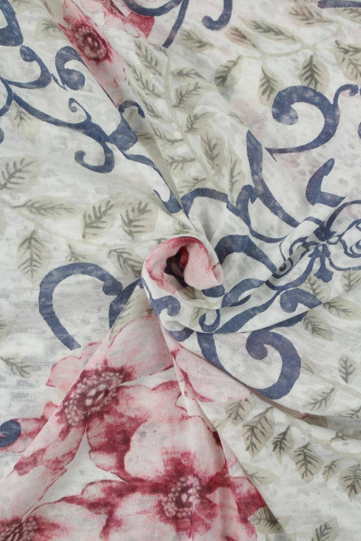 Dzianina jersey różowe kwiaty KUPON 2 MB