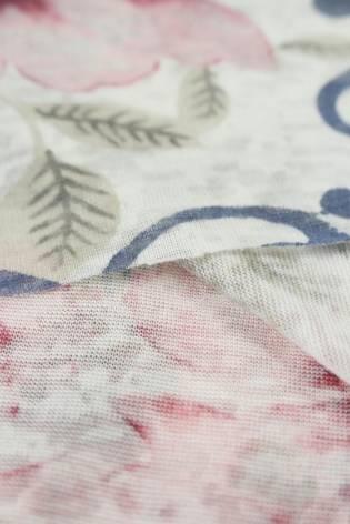 Dzianina jersey różowe kwiaty KUPON 2 MB thumbnail