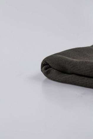 Dzianina ściągaczowa prążek - khaki - 60cm/120cm 220g/m2 - 1