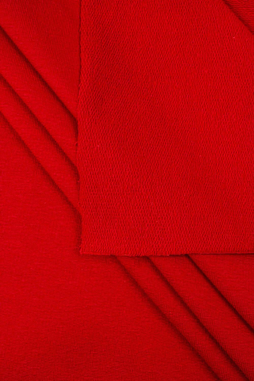 Dzianina dresówka pętelka - czerwony - 185cm 240g/m2