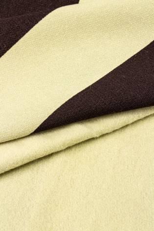 Dresówka drapana - beżowa z brązowymi pasami - 170cm 280g/m2 thumbnail