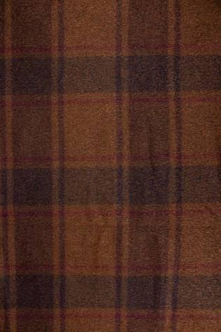 Tkanina wełniana z okrywą - karmelowa w kratę - 155cm 350g/m2 thumbnail