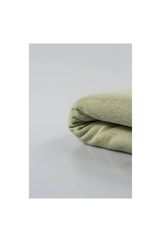 Dresówka drapana jasna oliwka melanż - 80cm(160cm) 400g/m2