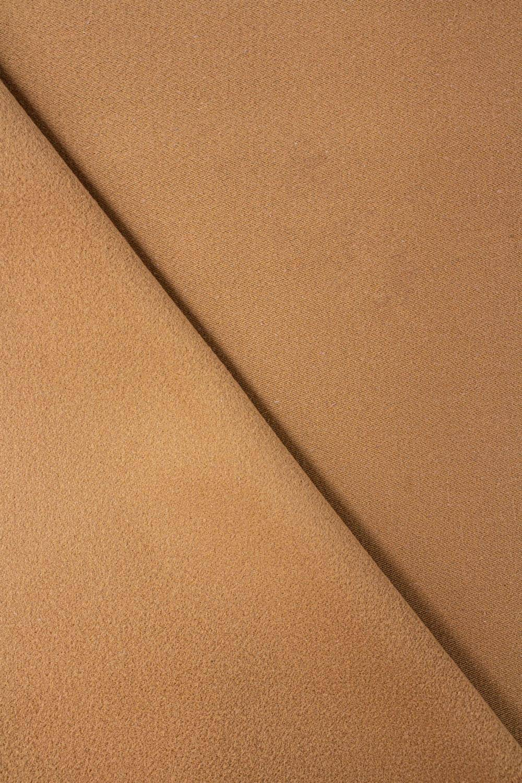 Tkanina flanelowa - karmel - 160cm 425g/m2