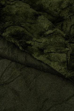 Fabric - Eco Fur- A'la Karakul - Khaki - 155 cm - 570 g/m2 thumbnail