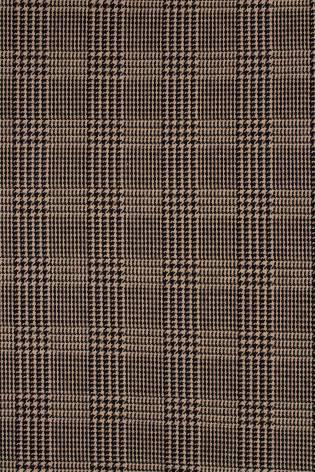 Knit - Sweatshirt Jacquard - Brown-Beige With Checkered Pattern - 175 cm - 310 g/m2 thumbnail